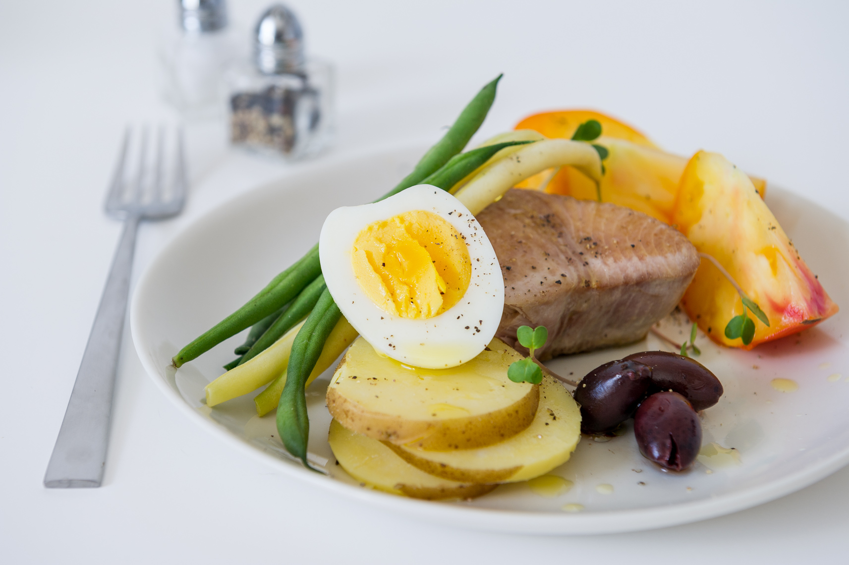 NYC Food Photographer - Tuna Nicoise