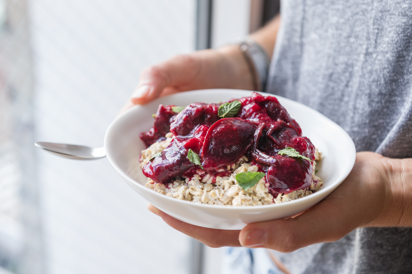 NYC Food Photographer - Overnight Plum Oats