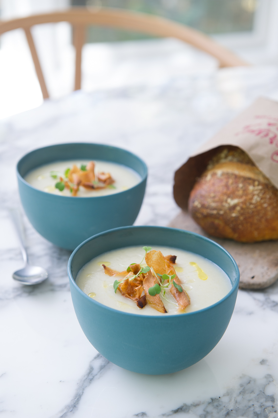 NYC Food Photographer - Cauliflower Soup