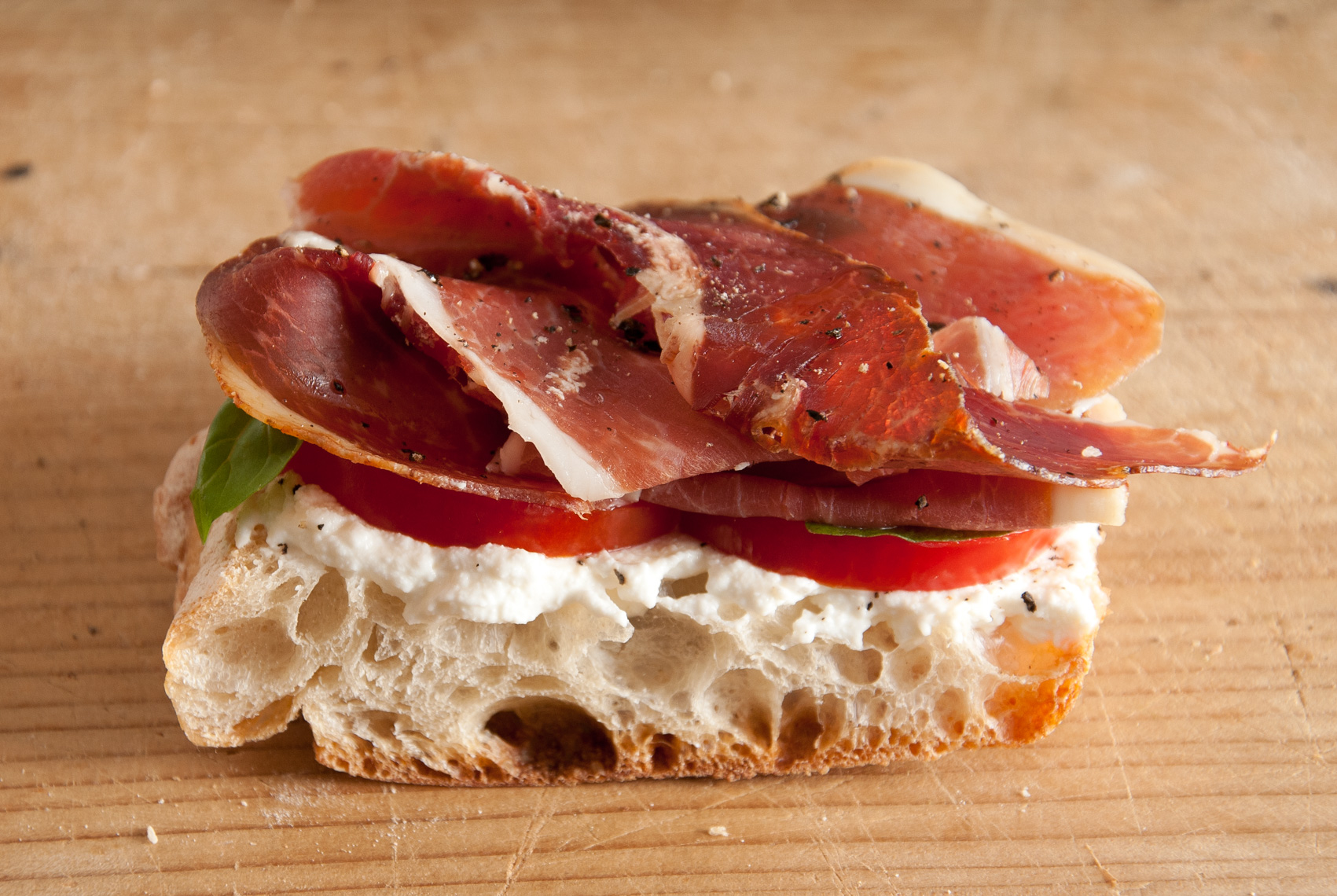 NYC Food Photographer – Prosciutto on Bread