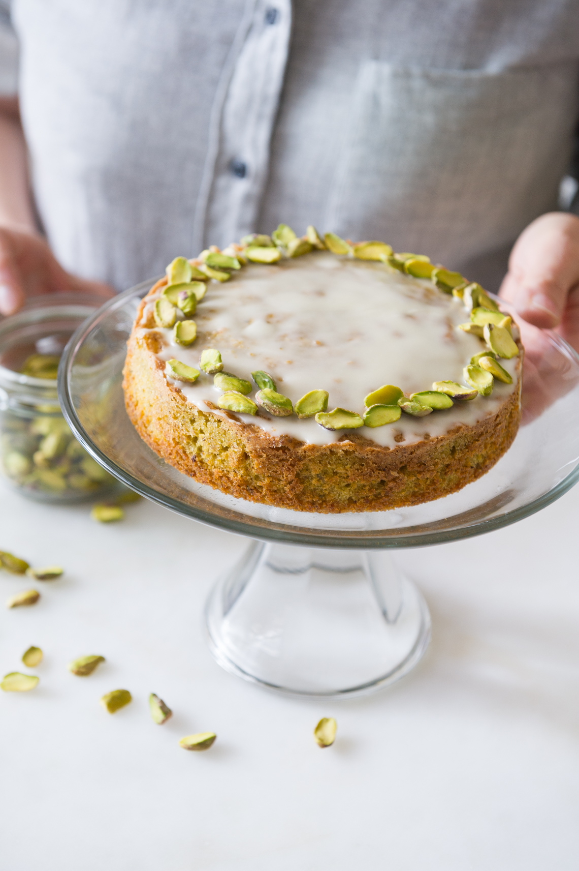 NYC Food Photographer - Pistachio Cake