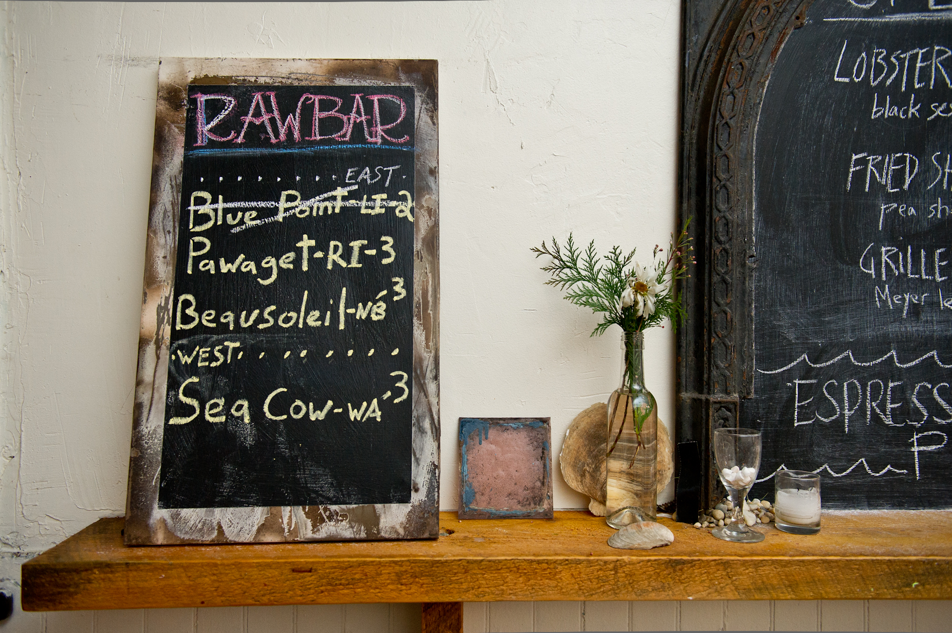 NYC Food Photographer - Raw Bar Menu