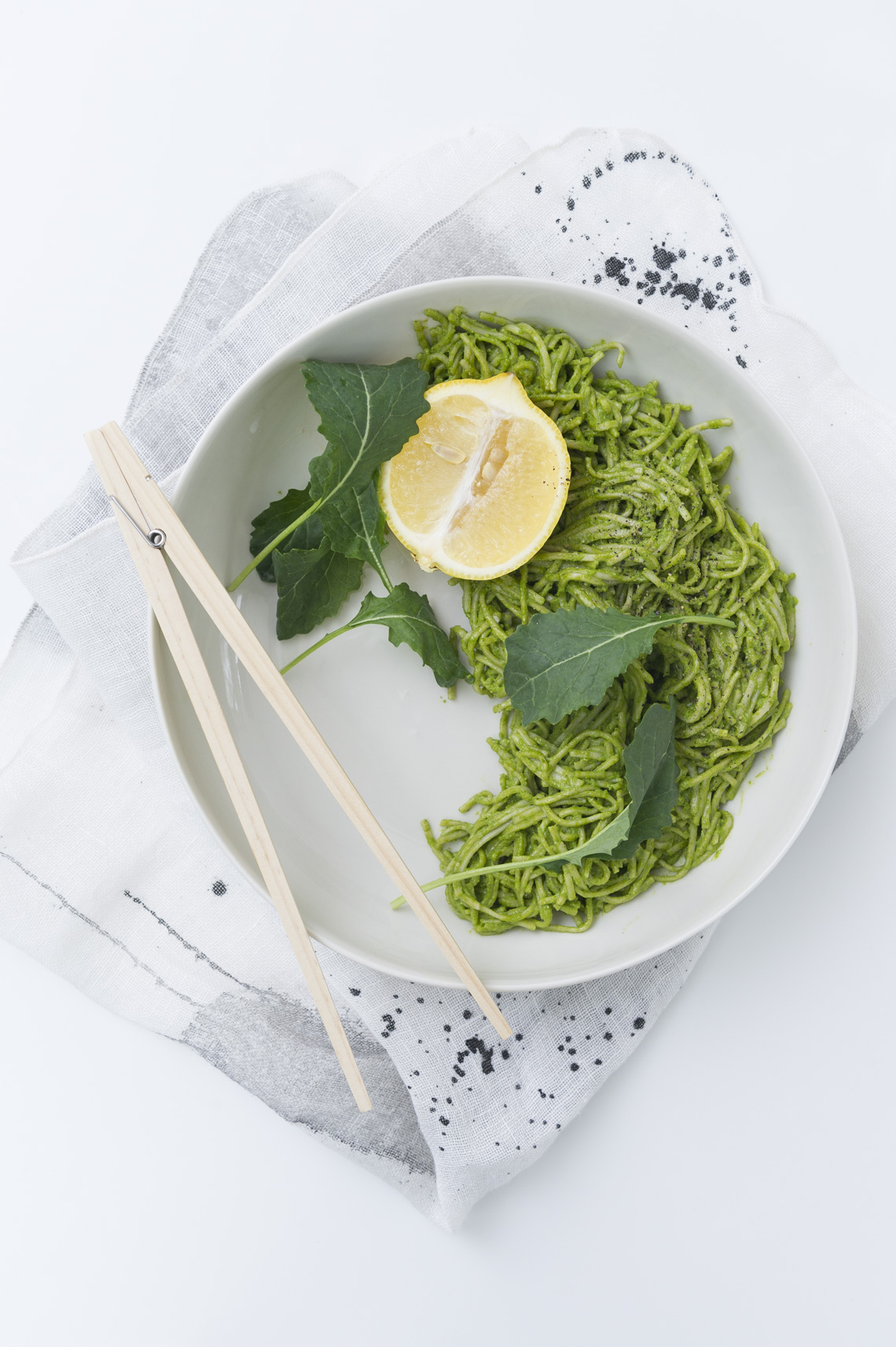NYC Food Photographer - Pesto Soba Noodles