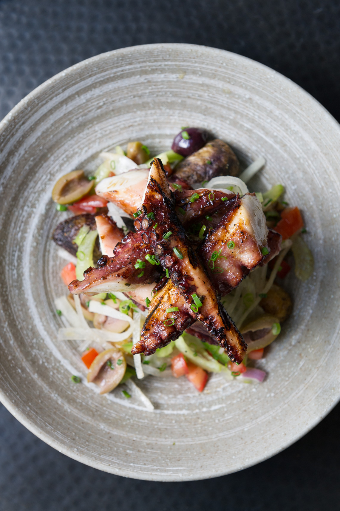 NYC Food Photographer – Grilled Octopus Salad