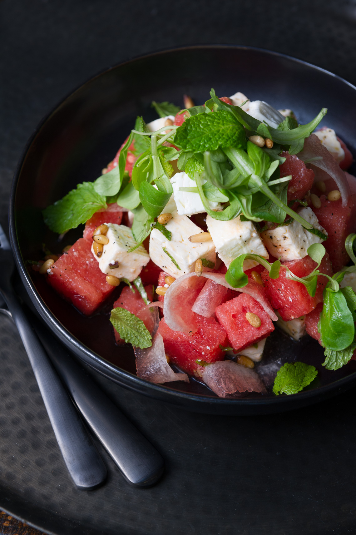 NYC Food Photographer - Watermelon And Feta Salad