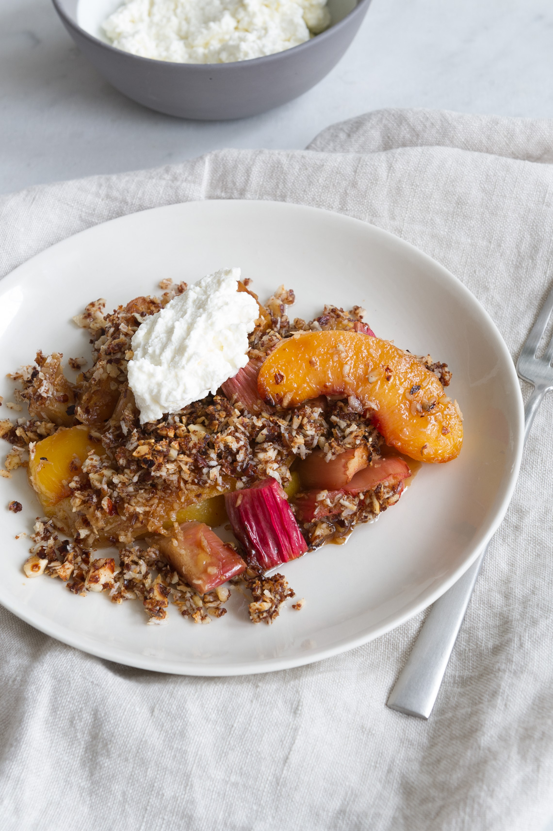 NYC Food Photographer - Peach Crumble