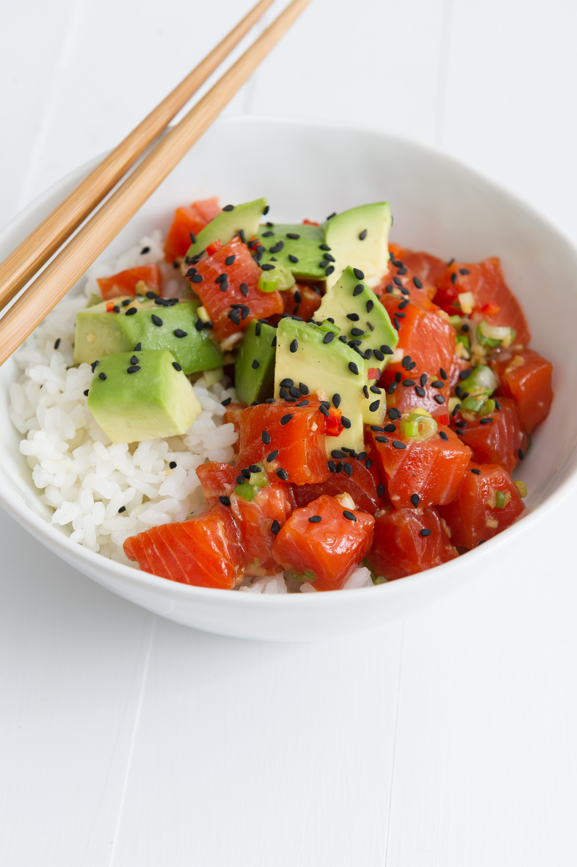 NYC Food Photographer - Copper River Salmon Poke