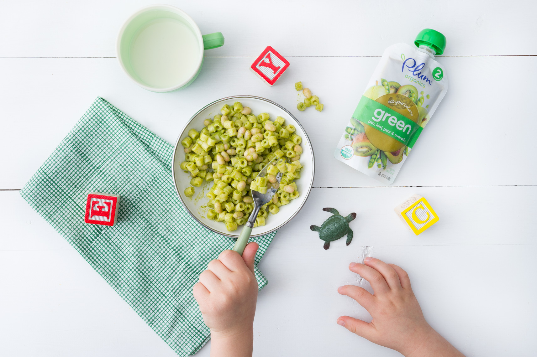 NYC + Chicago Food and Beverage Photographer - Plum Organics Baby Food Peas