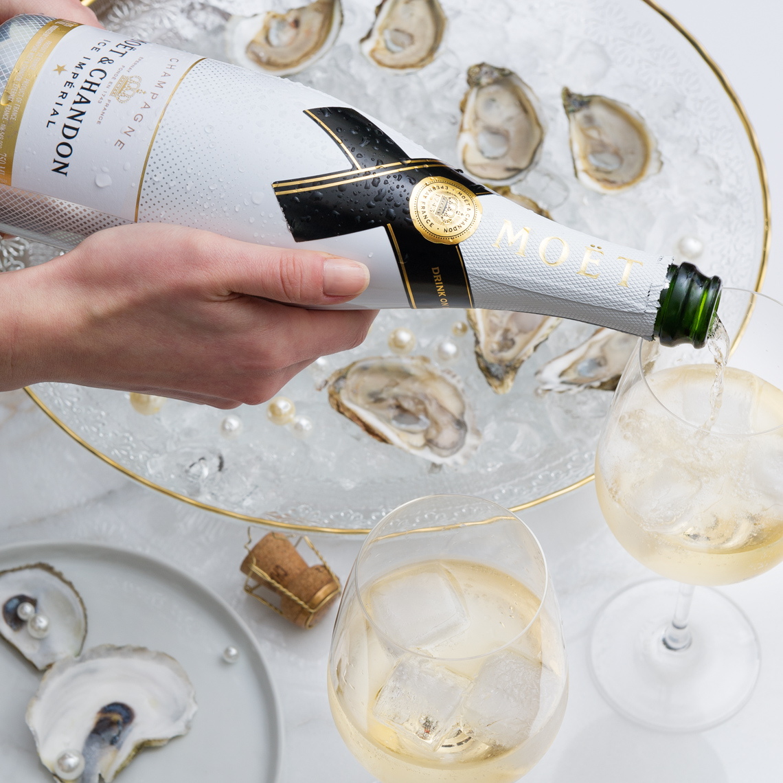 NYC Commercial Food Photographer - Moet & Chandon