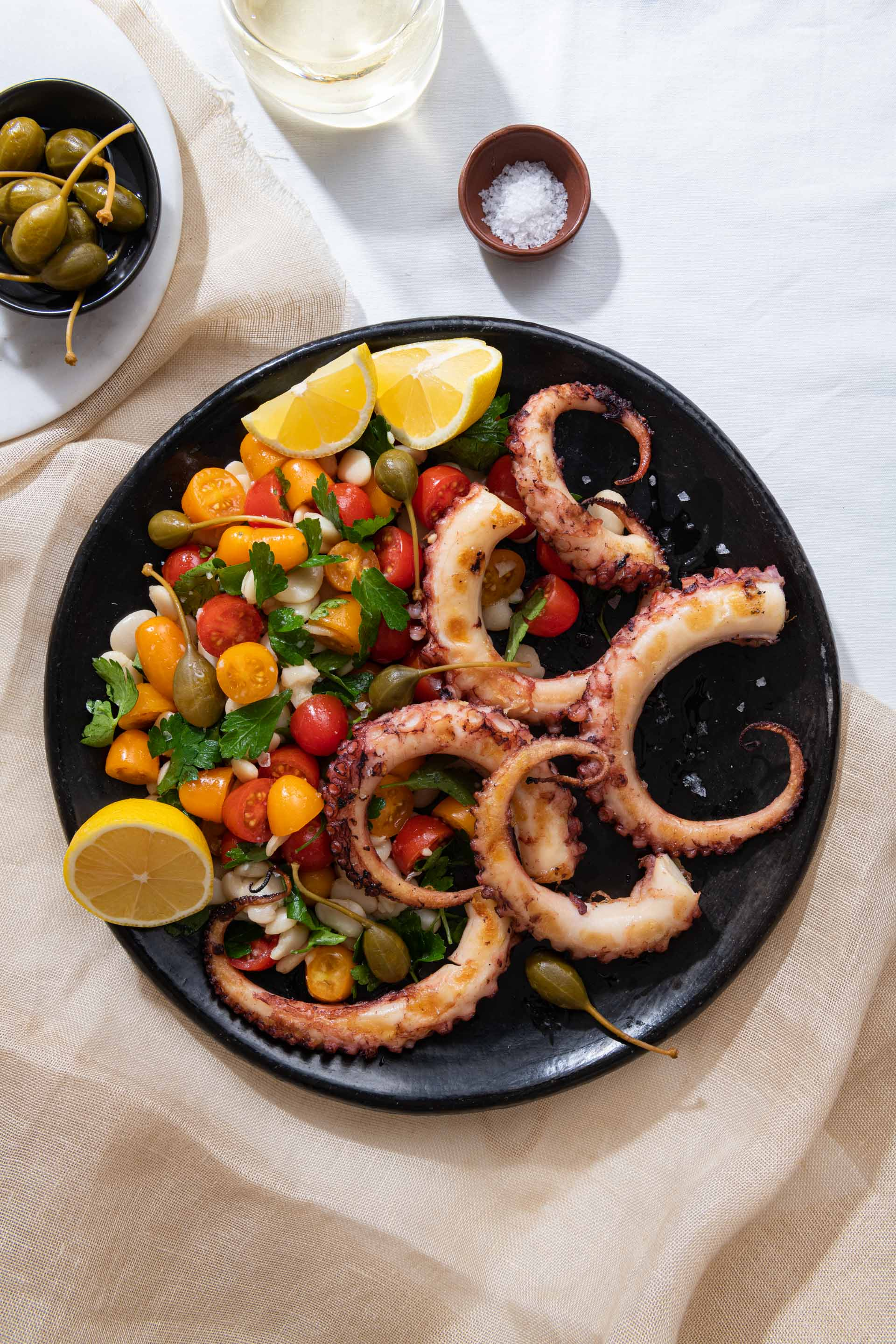 Chicago Food Photographer - Spark Grills Octopus Salad