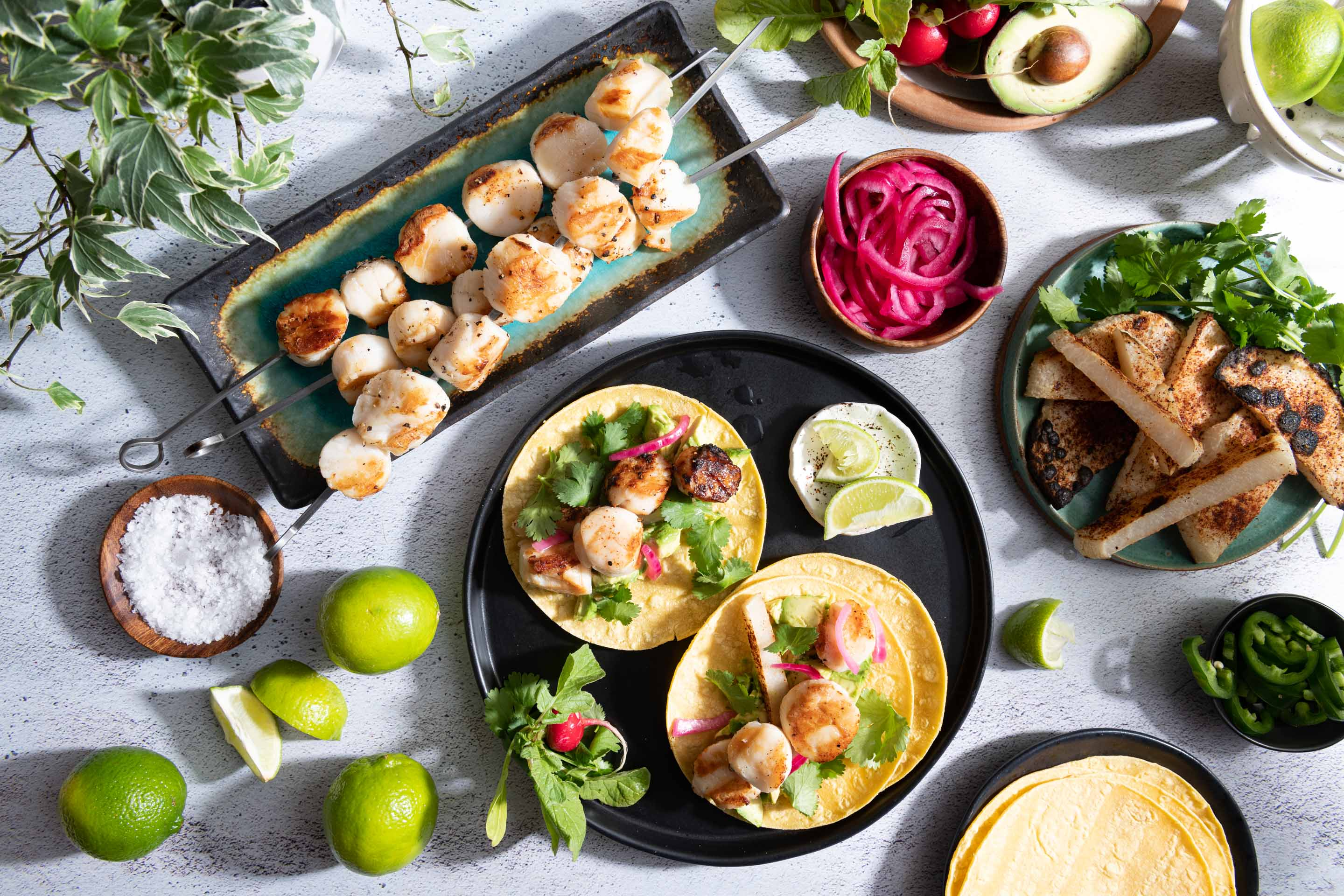 Chicago Food Photographer - Spark Grills Recipes and Photography Scallop Tacos