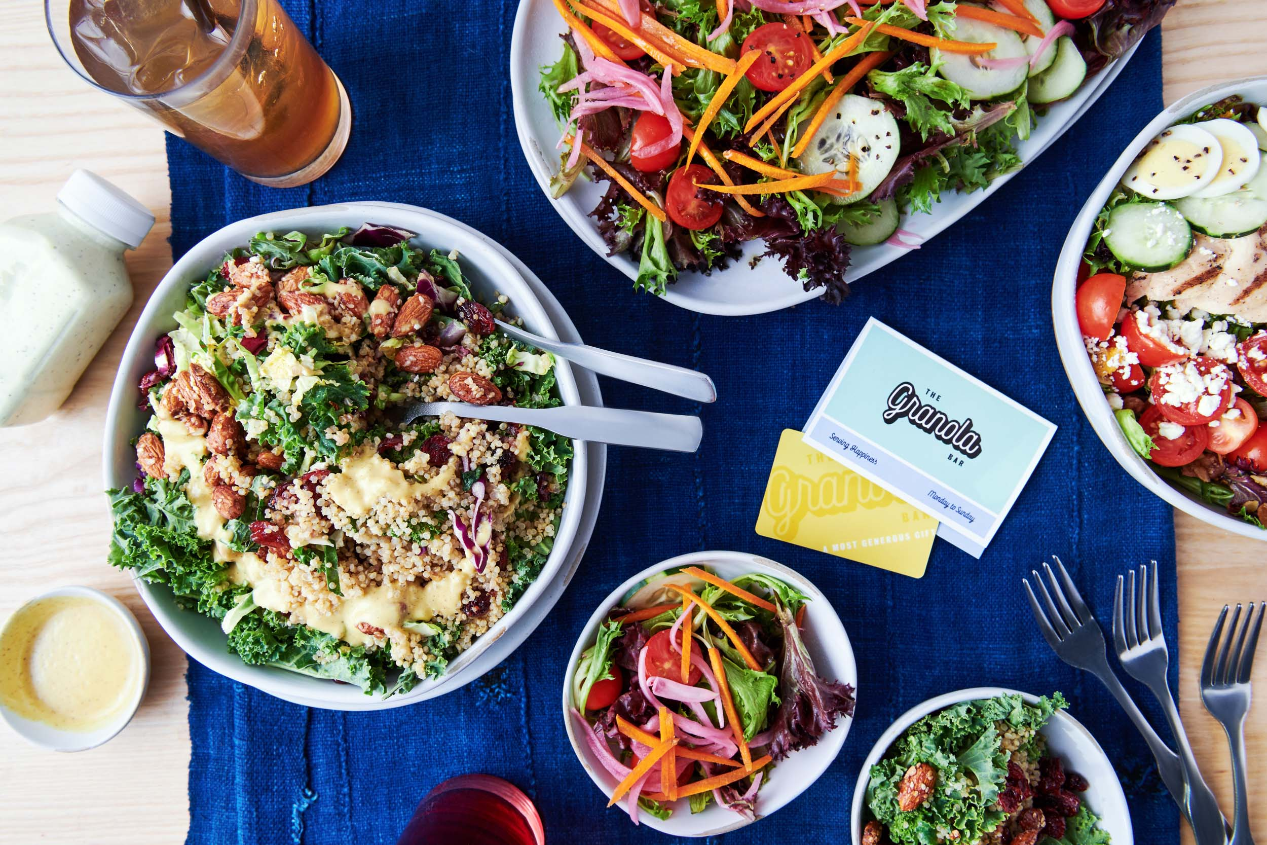 Morgan Ione | NYC + Chicago + Boston Fast Casual Food Photographer - Granola Bar Salads