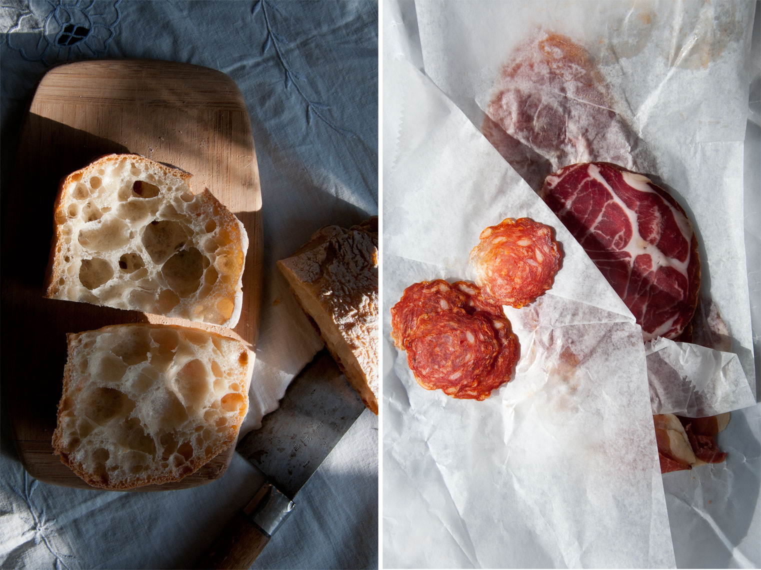 NYC Food Photographer – Bread and Prosciutto